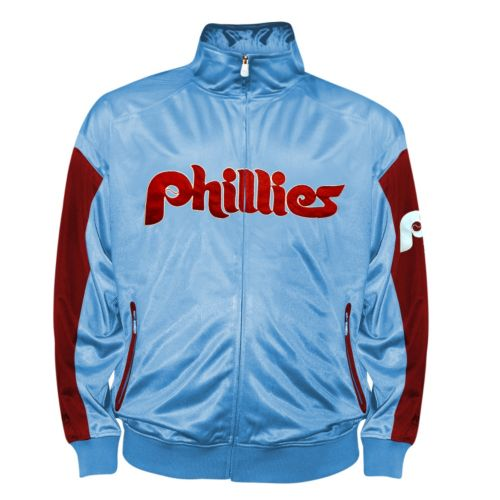 Big & Tall Philadelphia Phillies Blue Tricot Track Jacket