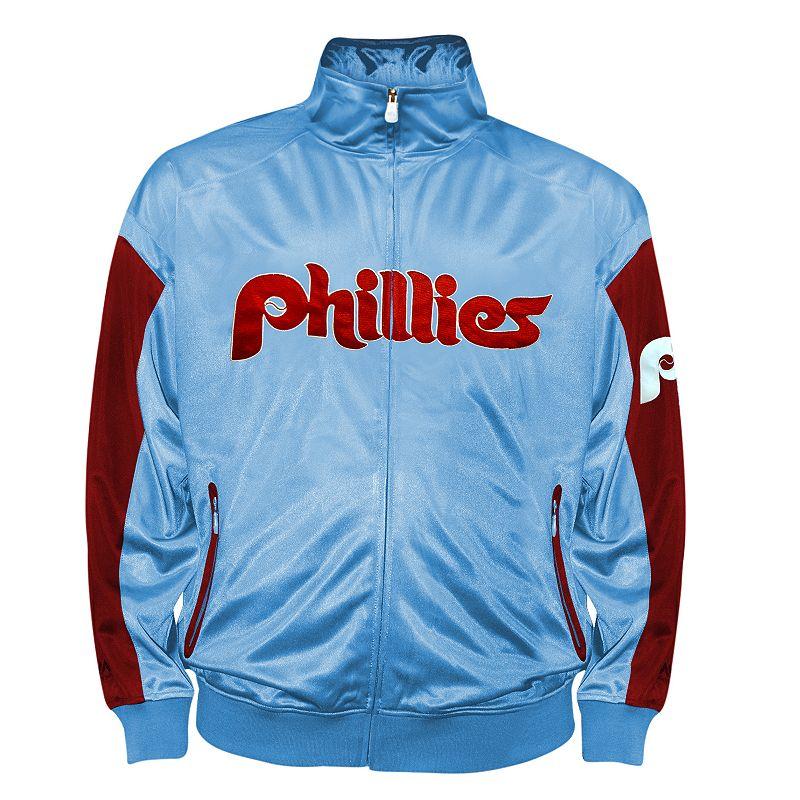 Big & Tall Philadelphia Phillies Blue Tricot Track Jacket