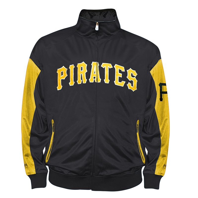 Big & Tall Pittsburgh Pirates Black Tricot Track Jacket