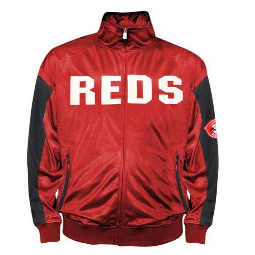 Big & Tall Cincinnati Reds Red Tricot Track Jacket