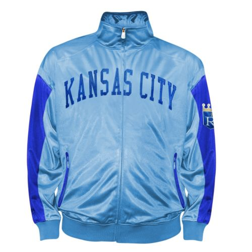 Big & Tall Kansas City Royals Blue Tricot Track Jacket