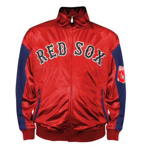 Big & Tall Boston Red Sox Red Tricot Track Jacket