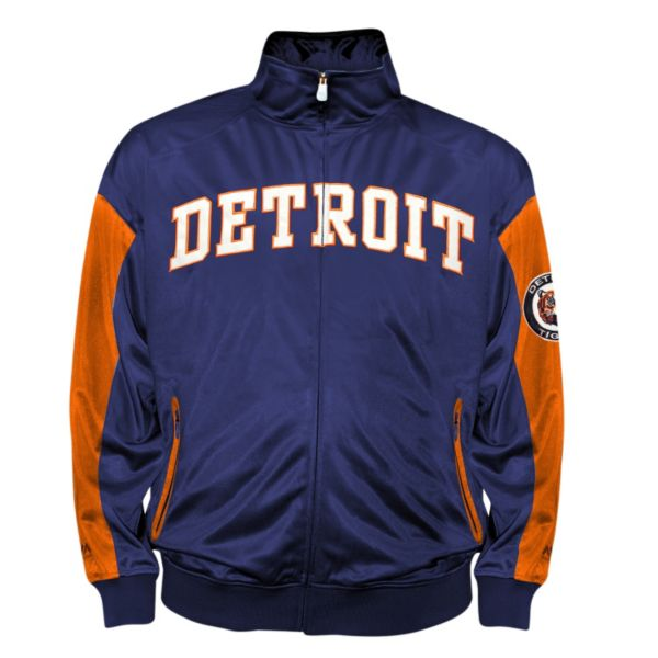 Big & Tall Detroit Tigers Navy Tricot Track Jacket