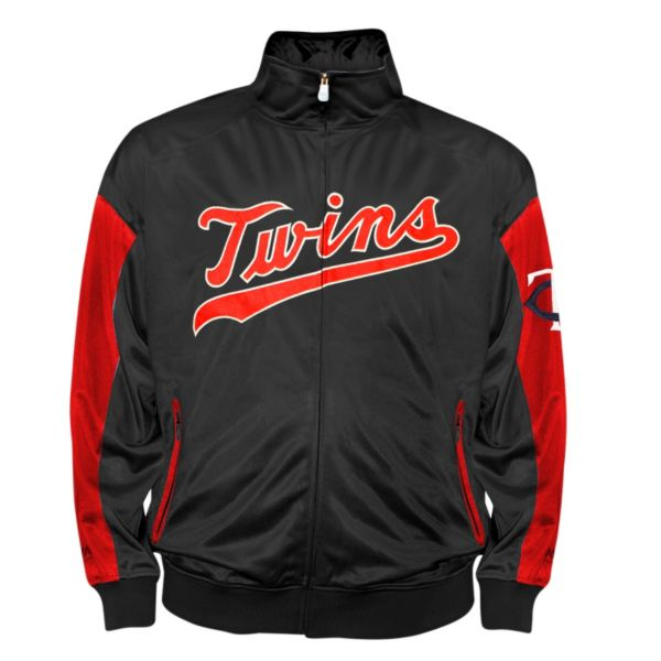 Big & Tall Minnesota Twins Navy Tricot Track Jacket