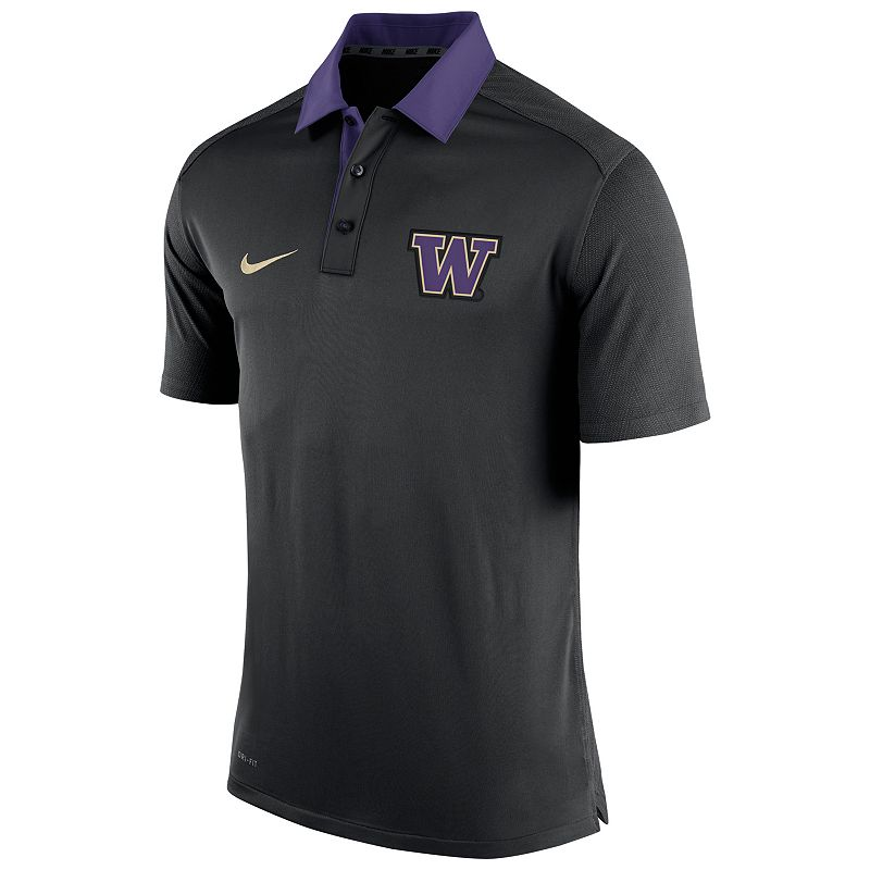 Men's Nike Washington Huskies Elite Coaches Dri-FIT Performance Polo
