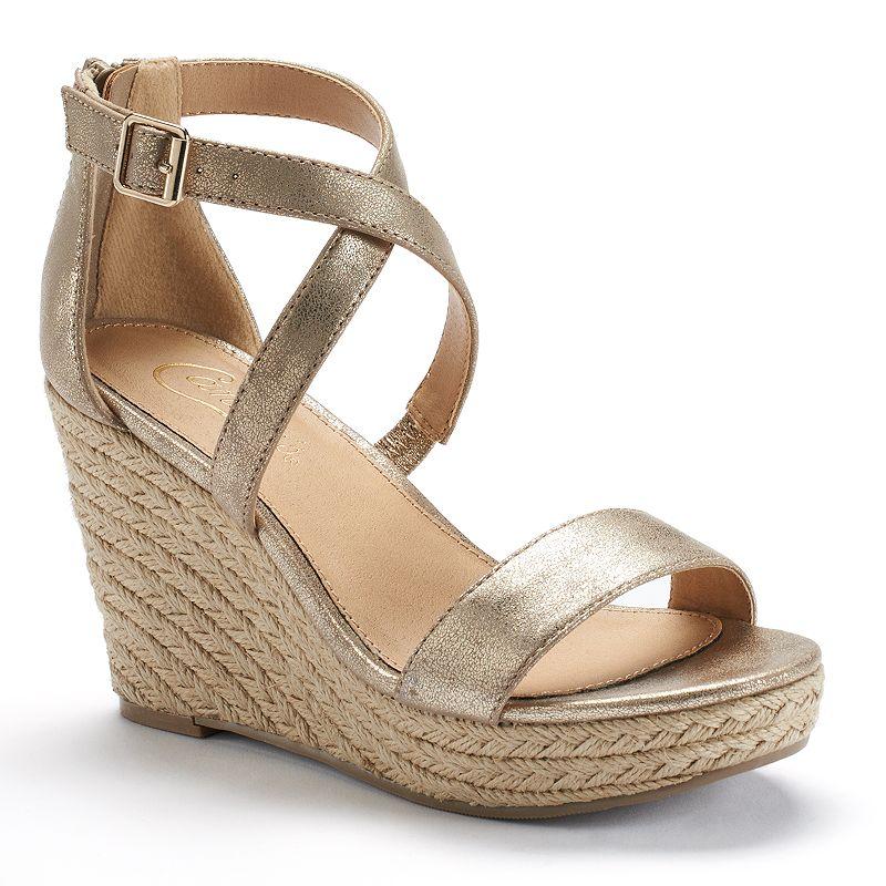 Excellent Steve Madden Women39s Montaukk Platform Wedge Sandals In Natural  Lyst