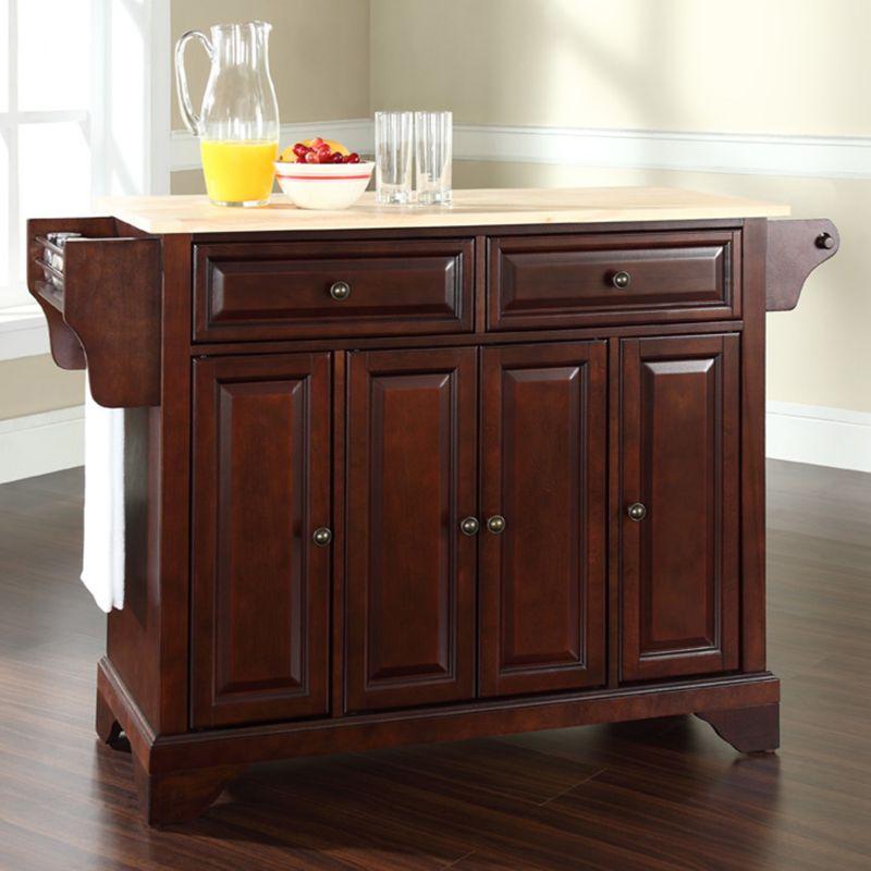 crosley furniture brown kitchen island kohl s