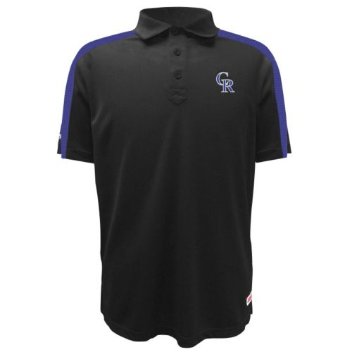 Men's Stitches Colorado Rockies Waffle Polo