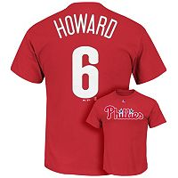 Men's Majestic Philadelphia Phillies Ryan Howard Player Name and Number Tee