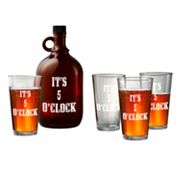 Artland 5-pc. Beer Growler and Glasses Set, Multicolor