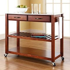 Crosley Furniture Stainless Steel Top Kitchen Cart by