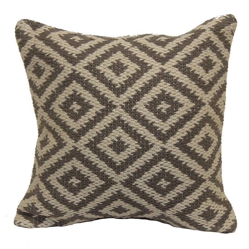 Diamond Hand-Woven Throw Pillow