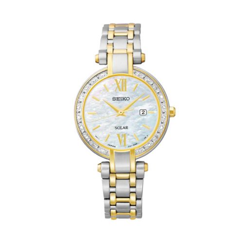 Seiko Women's Tressia Two Tone Stainless Steel Solar Watch - SUT198