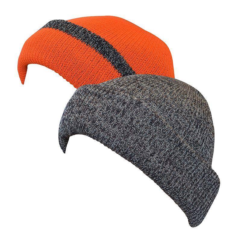 QuietWear Reversible Fleece Knit Visor Cap - Men