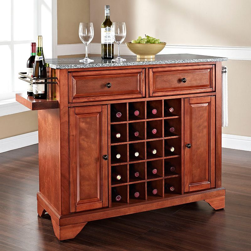 Crosley Furniture Lafayette Granite Wine Console Table