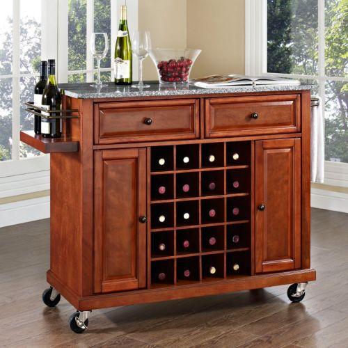 Crosley Furniture Granite Wine Console Table