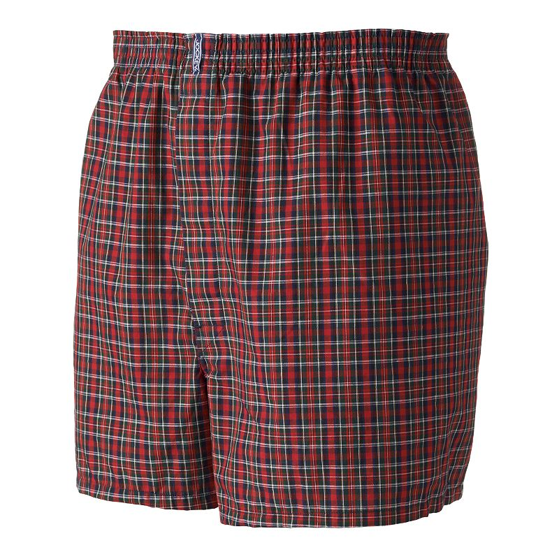 Big & Tall Jockey 2-pack Classic Plaid Full-Cut Woven Boxers