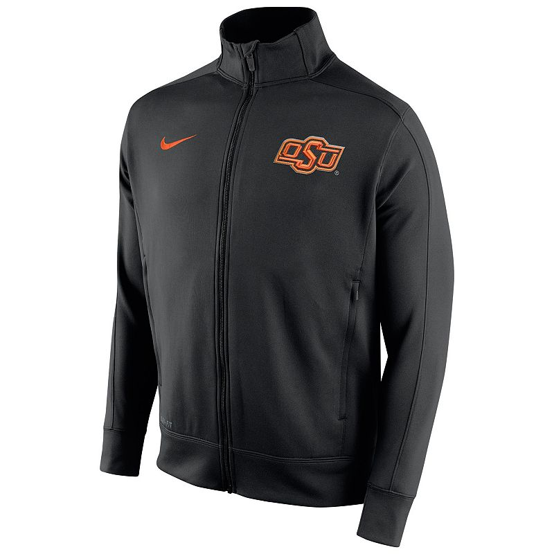 Men's Nike Oklahoma State Cowboys Stadium Class Track Jacket