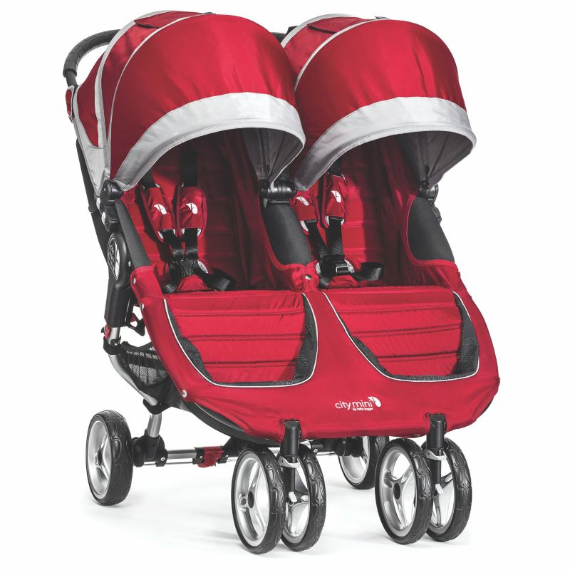 Baby Jogger City Mini Double Stroller, Dark Red