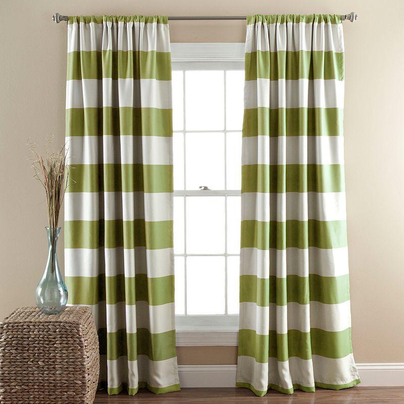 Lush Decor Striped Blackout Curtain Pair - 52'' x 84''