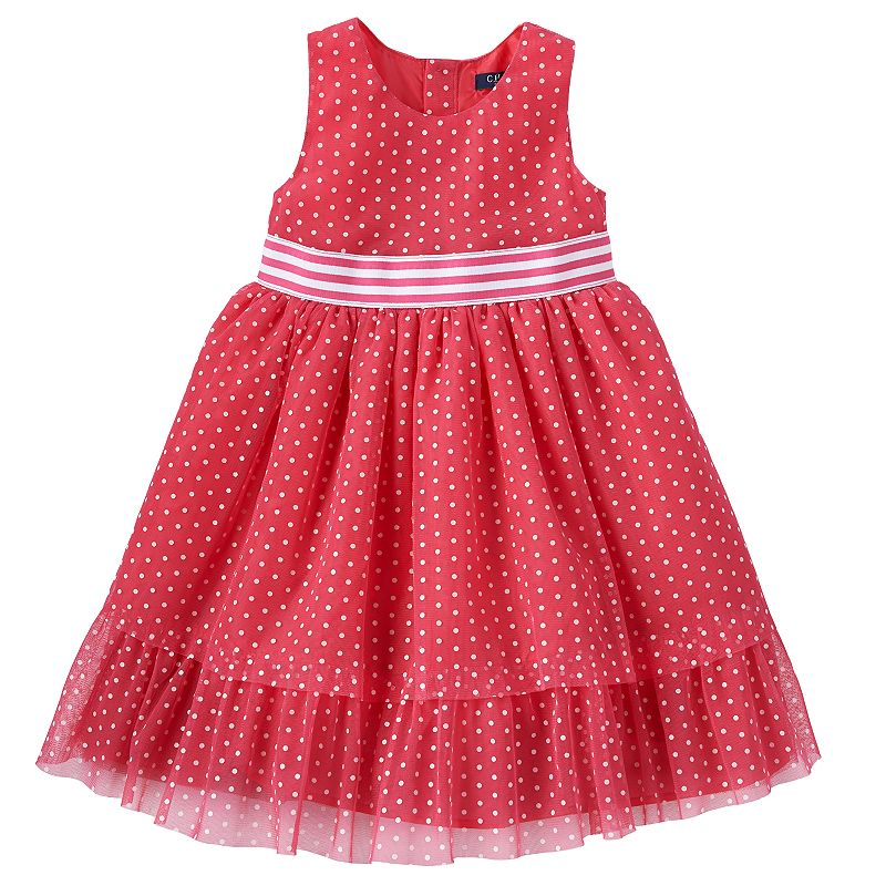 Toddler Girl Chaps Polka-Dot Tulle Dress