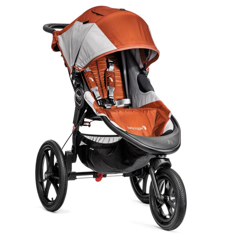 Baby Jogger Summit X3 Single Stroller, Orange