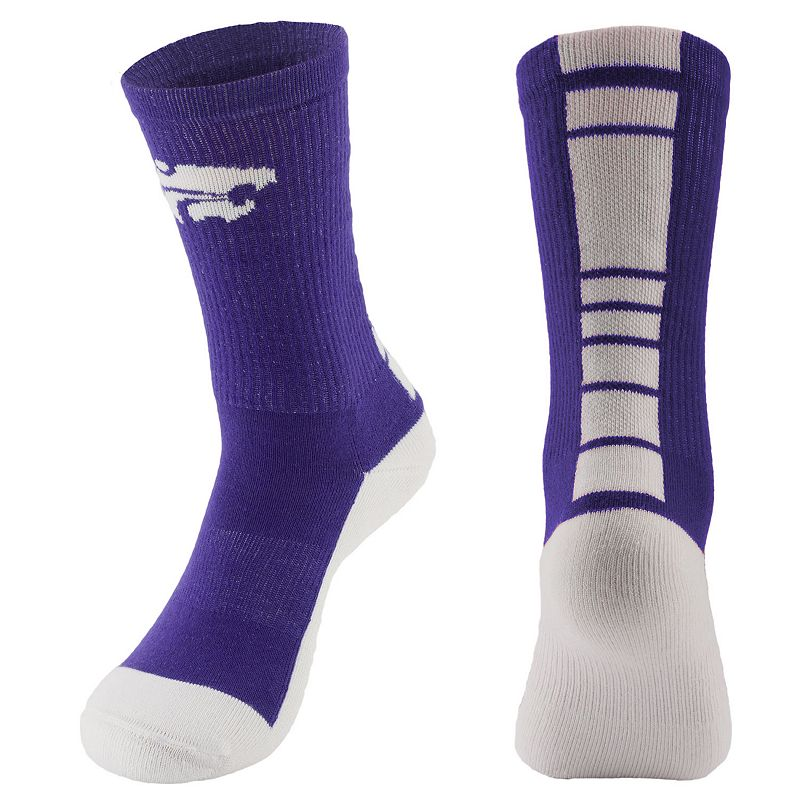 Men's Mojo Kansas State Wildcats Champ 1/2-Cushion Performance Crew Socks