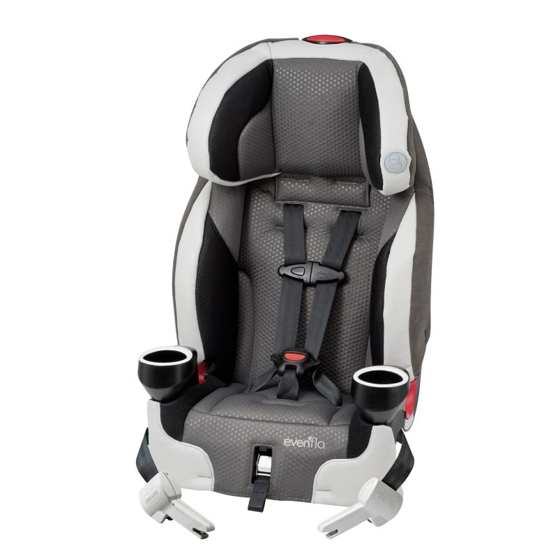 Evenflo Securekid DLX Harnessed Booster Car Seat, Multicolor