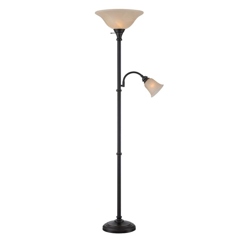 Henley Torchiere Floor and Reading Lamp, Brown thumbnail