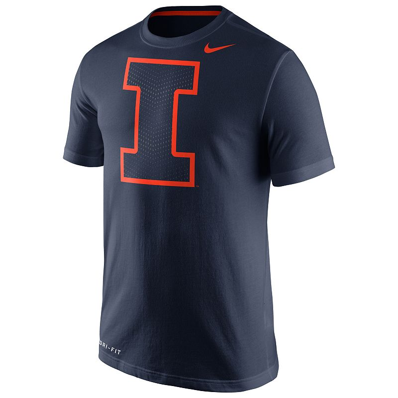 Men's Nike Illinois Fighting Illini Travel Dri-FIT Cotton Tee