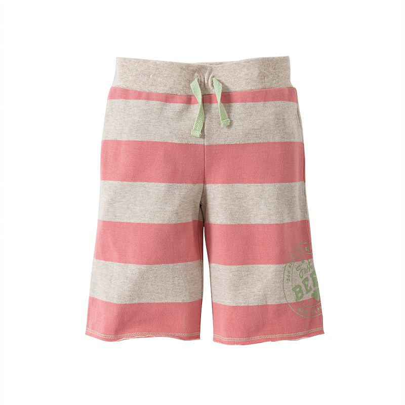Baby Girl Burt's Bees Baby Organic Rugby Stripe Board Shorts