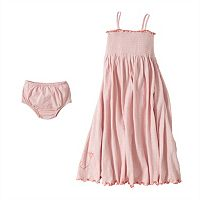 Baby Girl Burt's Bees Baby Organic Slubbed Maxi Dress