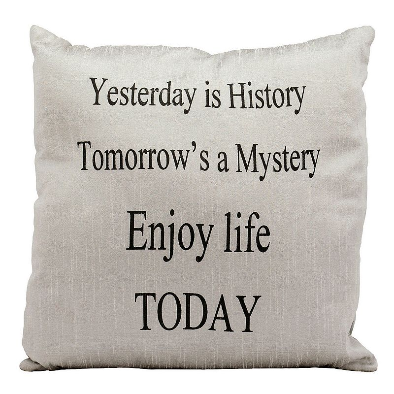Mina Victory ''Enjoy Life Today'' Throw Pillow