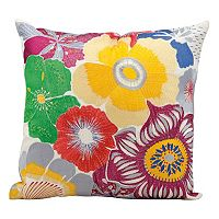 Mina Victory Bright Floral Throw Pillow - Indoor / Outdoor