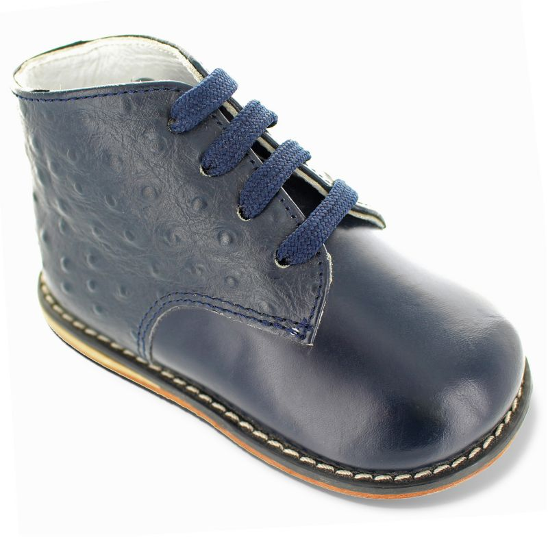 Josmo Baby / Toddler Boys' Leather Boots, Size: 7.5T, Blue (Navy) thumbnail