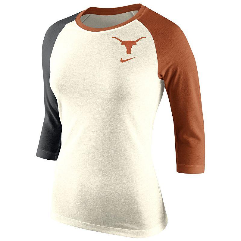 Women's Nike Texas Longhorns Raglan Tee