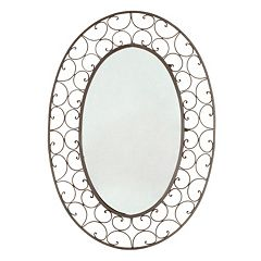 Scroll Oval Wall Mirror by