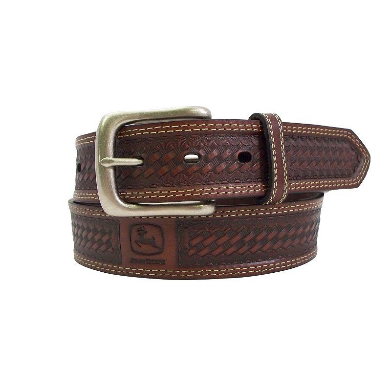 John Deere Basket-Weave Leather Belt - Men