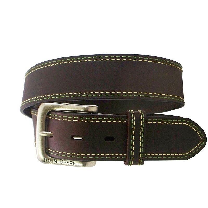 John Deere Buffalo Bridle Leather Belt - Men