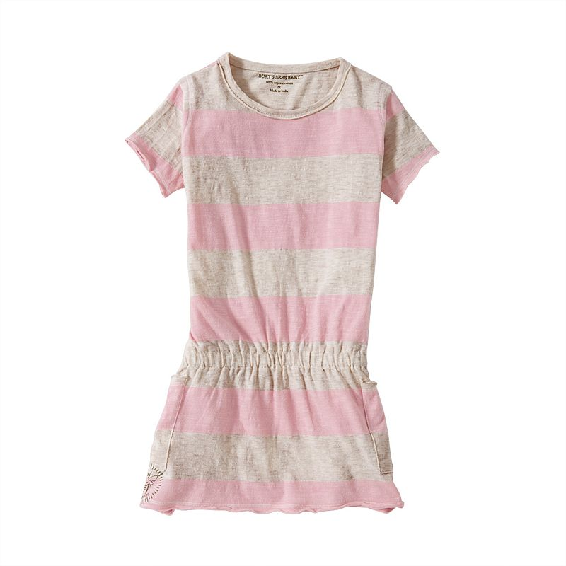 Toddler Girl Burt's Bees Baby Organic Rugby Striped Dress