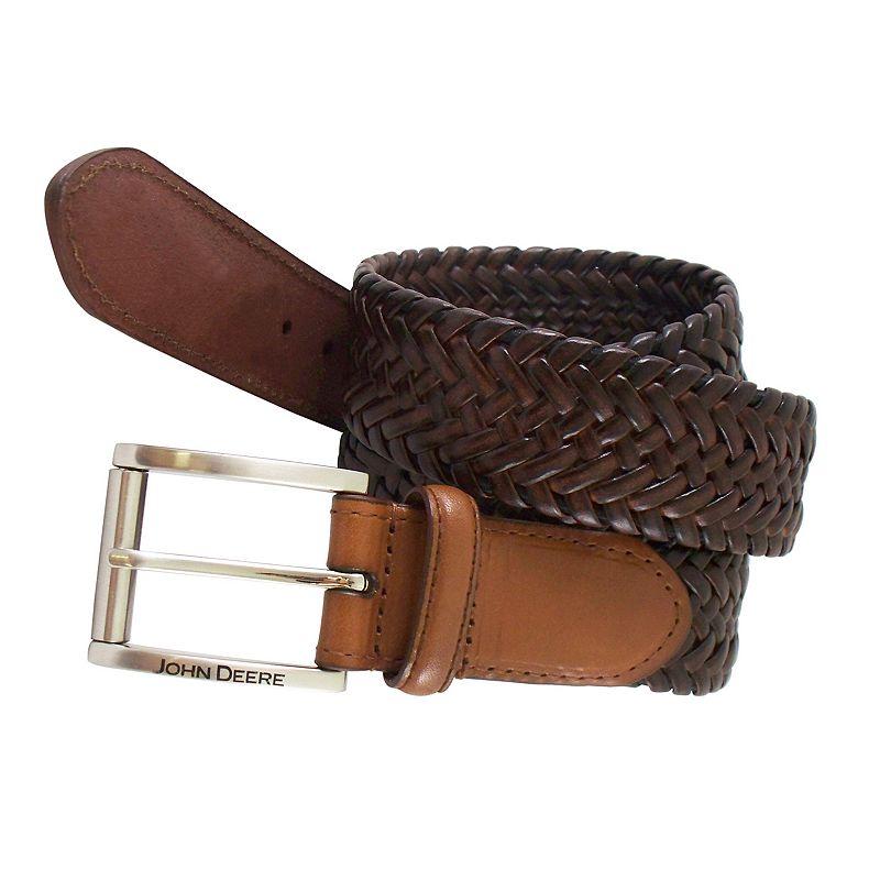 John Deere Braided Stretch Leather Belt - Men