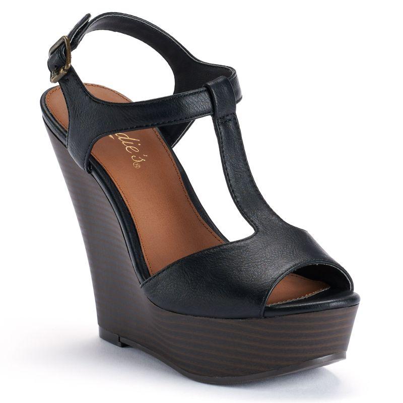 Kohls.com Mudd Mudd Women's Peep-Toe Platform Wedge ...