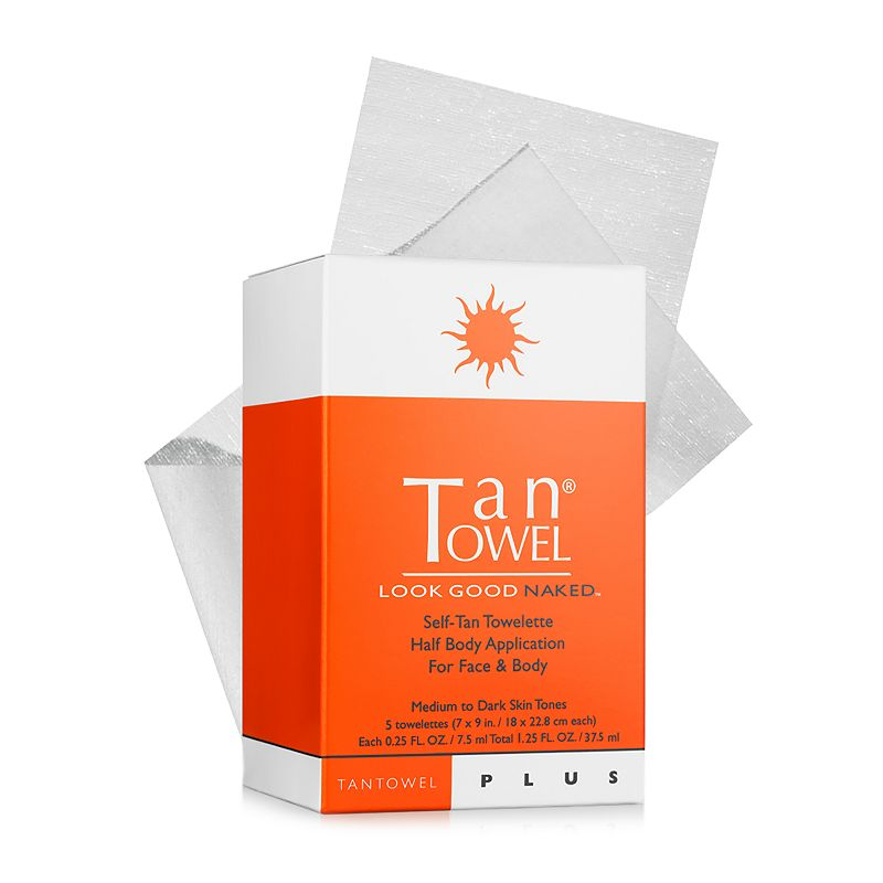 TanTowel 5-pk. Plus Self-Tan Towelettes Half Body Application