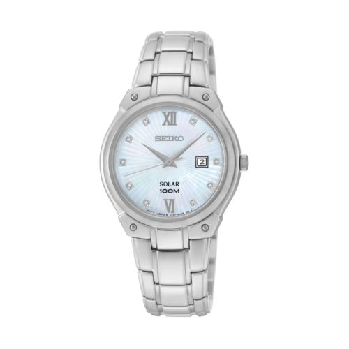 Seiko Women's Stainless Steel Solar Watch - SUT213