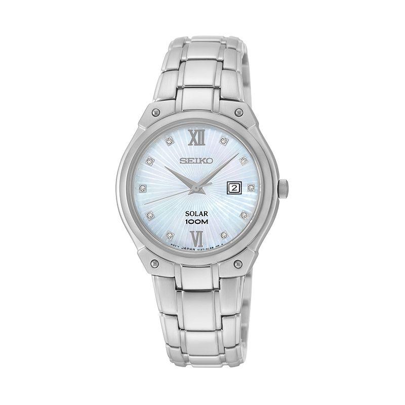 Seiko Women's Stainless Steel Solar Watch - SUT213