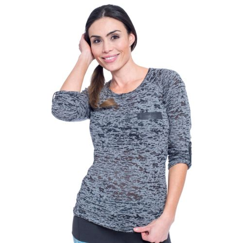 Women's Soybu Tara Burnout Camo Scoopneck Yoga Tee