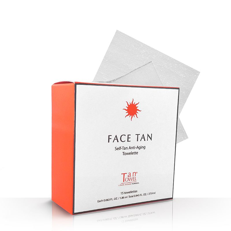 TanTowel Face Tan 15-pk. Self-Tan Anti-Aging Towelettes