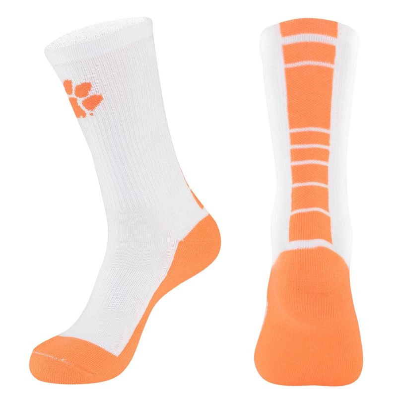 Men's Mojo Clemson Tigers Champ 1/2-Cushion Performance Crew Socks