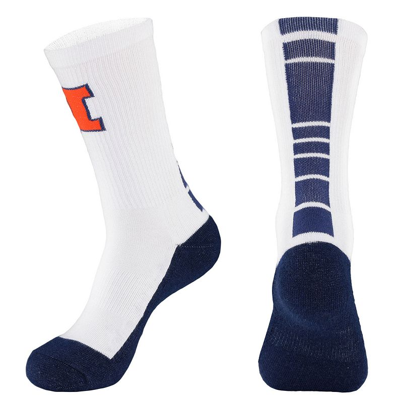 Men's Mojo Illinois Fighting Illini Champ 1/2-Cushion Performance Crew Socks