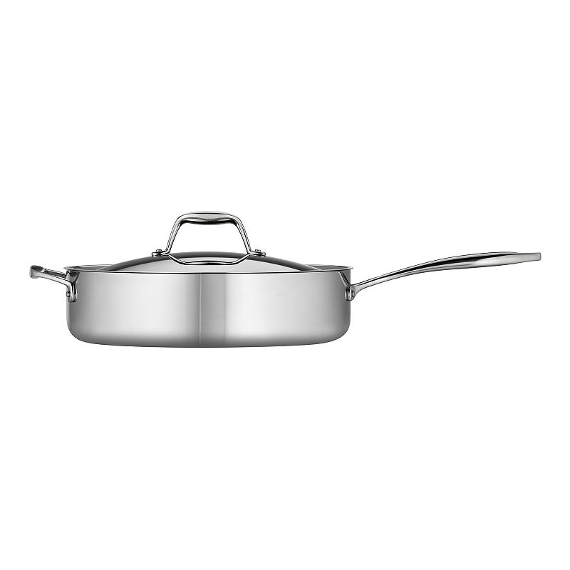 Tramontina Gourmet Tri-Ply Clad Stainless Steel 5-qt. Deep Saute Pan